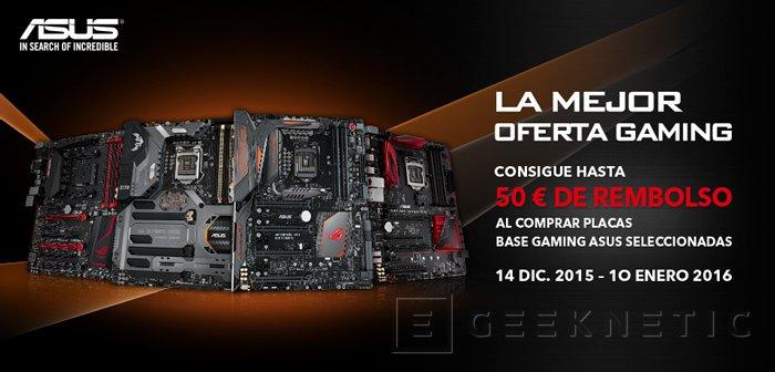 Estas Navidades ASUS te reembolsa hasta 50 Euros por la compra de sus placas base, Imagen 1