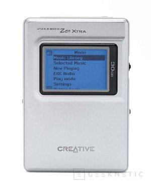 Creative vuelve a mejorar su Jukebox, ahora con un disco duro de 30 GB, Imagen 1