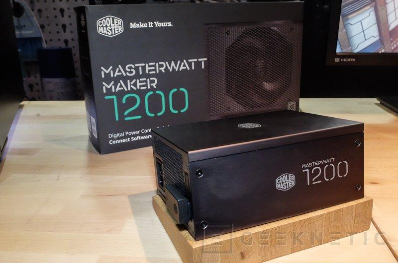 Cooler Master MasterWatt Maker 1200, fuente digital 80 PLUS TITANIUM, Imagen 1