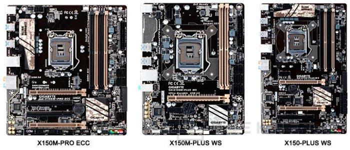 Nuevas placas Gigabyte X170 y X150 para CPUs Xeon 6 Intel Core, Imagen 2