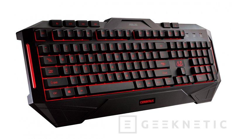 ASUS amplía su gama de periféricos Cerberus con un teclado, un ratón y una alfombrilla, Imagen 1