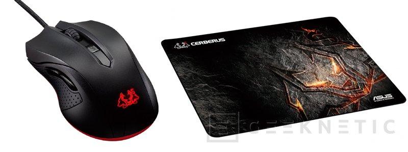 ASUS amplía su gama de periféricos Cerberus con un teclado, un ratón y una alfombrilla, Imagen 2