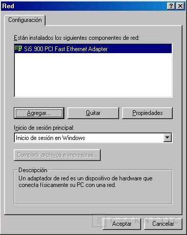 Red Ethernet de dos ordenadores en Windows 98, Imagen 2