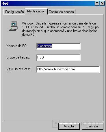 Red Ethernet de dos ordenadores en Windows 98, Imagen 6