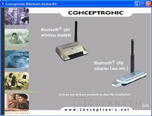 Análisis módem Conceptronic CBT56 Bluetooth + receptor Bluetooth, Imagen 4