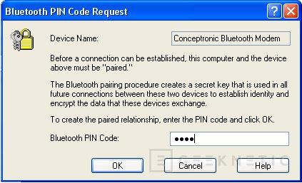 Análisis módem Conceptronic CBT56 Bluetooth + receptor Bluetooth, Imagen 8