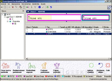 Particiones con PowerQuest Partition Magic 7.0, Imagen 1