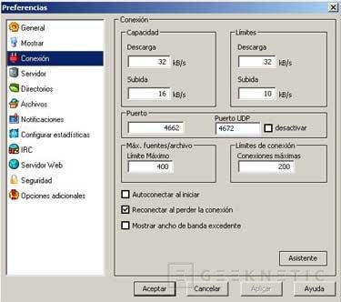 Configuración del eMule 0.27c, Imagen 3