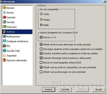 Configuración del eMule 0.27c, Imagen 6