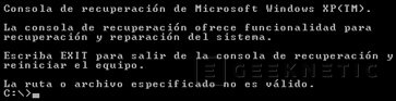 Consola de Recuperación de Windows, Imagen 1